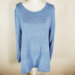 Talbots Woman Light Blue Sweater 3X